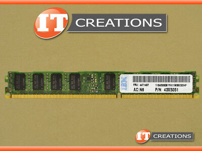 1x4GB 2Rx4 44T1586 43X5299 PC3-10600R CL9 ECC REG Genuine IBM 4GB DDR3 VLP