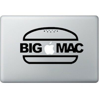 "Stickers Big Mac Pour Macbook Pro Air Retina Autocollants Decal 13"" Pouces"