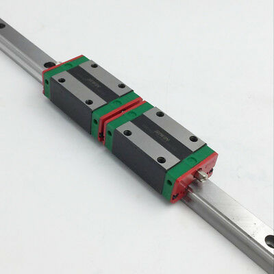 HIWIN 20mm Linear Guide Rail HGR20 L-1000mm & 2pcs HGH20CA Rail Block CNC Router