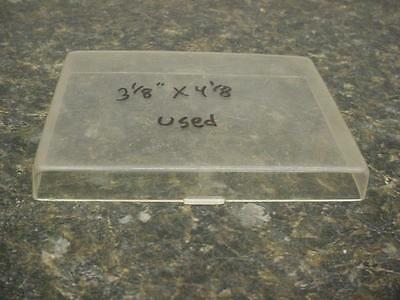 """Used 3-3/8"""" x 4-1/8"""" Square Beveled Replacement Alarm Clock Glass E276b"""