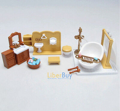 Dollhouse Miniatures furniture Bedroom Kitchen Set For Sylvanian Families Dolls