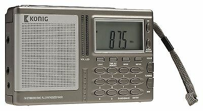 World Band Receiver Portable Digital Radio AM/FM/SW/MW/LW PLL Radio Alarm Clock