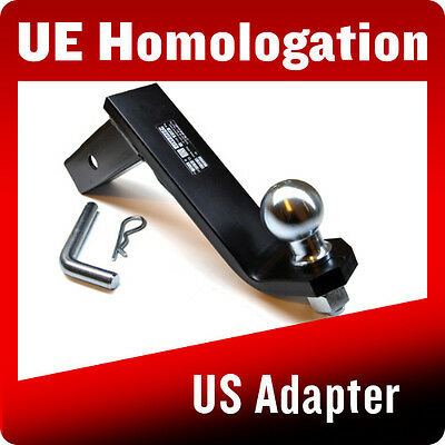 USA Towbar Ball Mount Receiver Adapter Drop Towing Hitch Hook American Towball