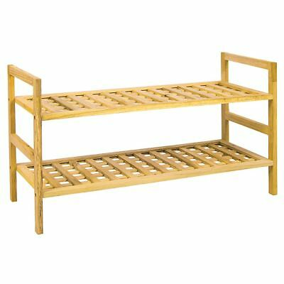 Shoe Rack Criss Cross 2 3 4 Tier Storage Stand Wooden Unit By Home Discount