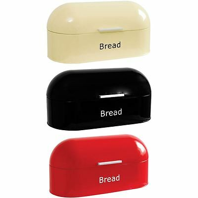 Retro Bread Bin Steel Kitchen Food Storage Roll Loaf Box Tin By Home Discount