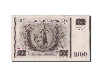 [#308120] Sweden, 1000 Kronor, 1952, Undated, KM:46a, EF(40-45)