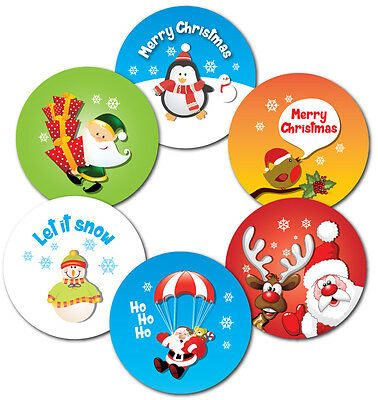 12 x 60mm Children's Christmas Stickers - gifts, envelopes, cards, crafts