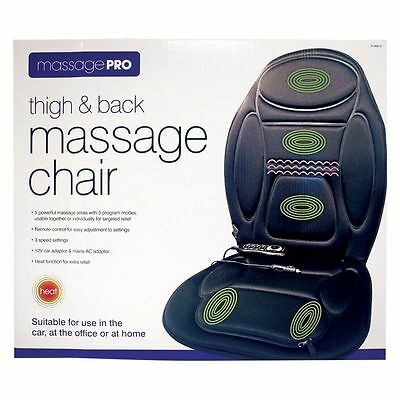 Thigh & Back Massage Chair Remote Control Operated For Home Office Car Use - New