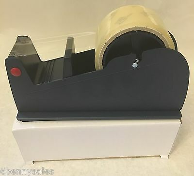 "Commercial Industrial 2"" INCH Packing Tape Dispenser Heavy Duty Tabletop Desktop"
