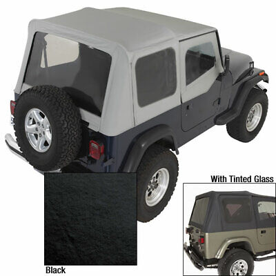 Soft Top With Door Skins Blk Tinted Windows for Jeep Wrangler YJ 88-95 13702.15