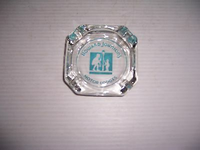 Vintage Howard Johnson's Motor Lodges Advertising Glass Ashtray