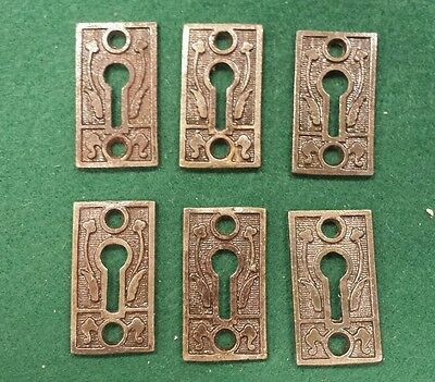 3 Pairs Decorative Victorian Style Key Hole Covers~Cast Iron