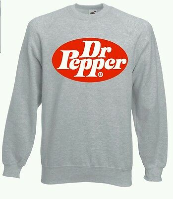Dr Pepper Sweatshirt Jumper All Sizes NEW Vintage Retro Style Sprite Coca Cola