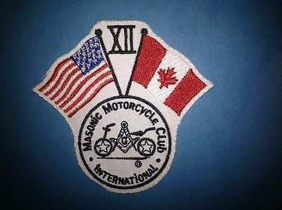 MMCI Masonic Motorcycle Club International Chapter 12 Freemason Patches Crests B