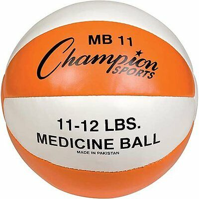 Champion Sports 11-12lb Leather Medicine Ball MB11 Medicine Ball NEW