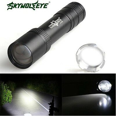 5000LM 3Mode Zoomable CREE XML T6 LED 18650 Powerful Flashlight Torch Lamp Light