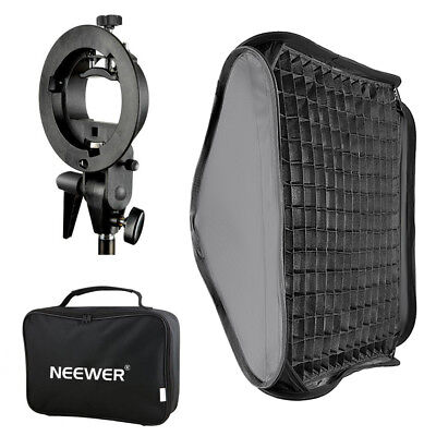 "Neewer 24""x24""/60x60cm Softbox with Grid and S-type Flash Bracket for Speedlite"