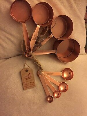 sass & belle copper Finish measuring spoons & Cups Set Baking **discontinued****