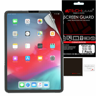 "1 Pack of TECHGEAR Screen Protector Guard Cover for Apple iPad Pro 12.9"" 2018"
