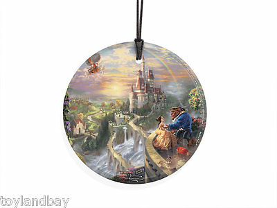 StarFire Prints Hanging Glass Ornament SPCIR376 Kinkade Beauty and the Beast