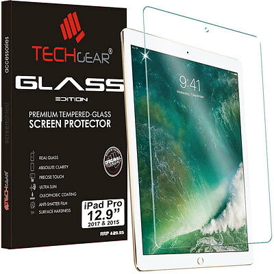 TECHGEAR TEMPERED GLASS Screen Protector Cover For 2017 Apple iPad Pro 12.9""