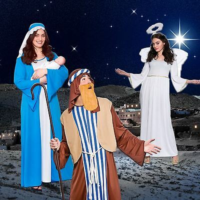 Adult Christmas Party Nativity Play Xmas Fancy Dress Costume Outfit Mary Joseph