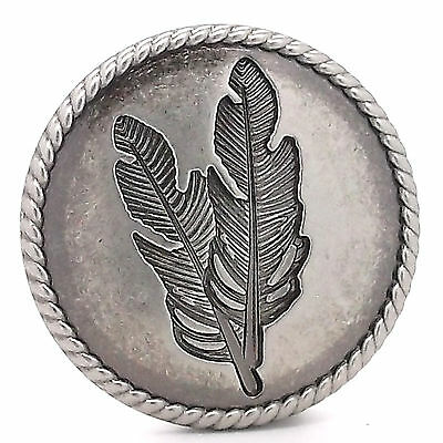 """Feather Concho Antique Nickel with Rope Border Screwback 1-1/4"""" by Stecksstore"""