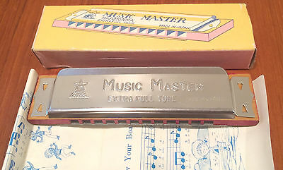 NOS Vintage Music Master Harmonica Japan Mint NIB w/ Song Booklet