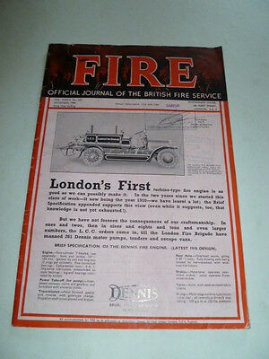 Nice 1940 British Fire Service Mag W/ Lots Of Ads From Us State Dept Collection