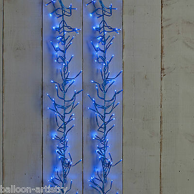280 Light Christmas 4.45m BLUE LED Cluster Indoor Outdoor Lights Decoration