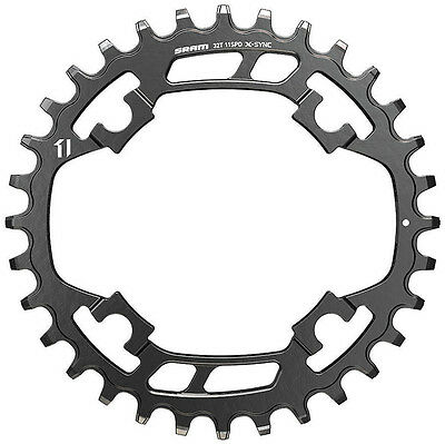 SRAM 32T Narrow Wide X-SYNC 11-Speed Steel Chainring, 94mm BCD, (1x11-Speed)