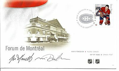 FDC NHL Hockey Defencemen Doug Harvey, Signed / Autographed By Designers
