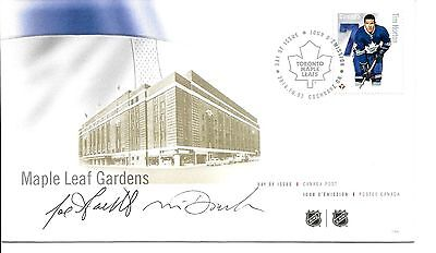 FDC NHL Hockey Defencemen Tim Horton, Signed / Autographed By Designers