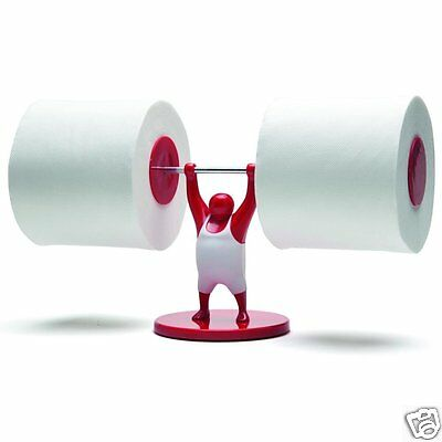 Mr T Weightlifter Bathroom Toilet Paper Tissue Roll Holder Red Monkey Business