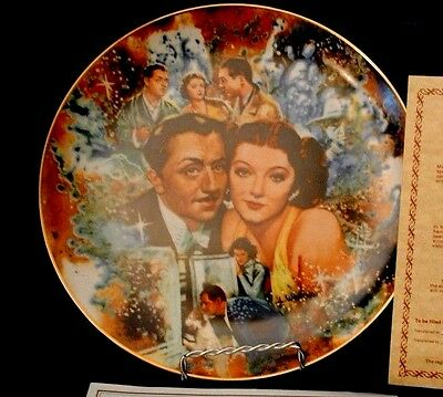 """1978 Golden Age of Cinema Collectors Plate - """"The Thin Man"""""""