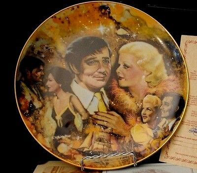 """1978 Golden Age of Cinema Collectors Plate - """"The King and His Ladies"""""""