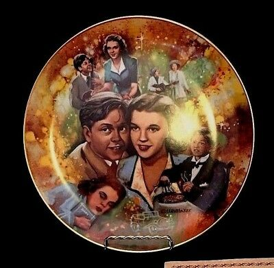"1978 Golden Age of Cinema Collectors Plate - ""Judy and Mickey"""
