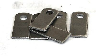 "Weld On Steel Flat Tab Brackets 1"" x 2 3/8"" x 1/8"" Lot of 6 Brackets"