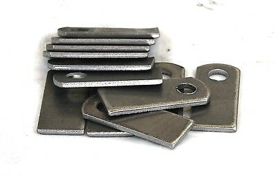 "Weld On Steel Flat Tab Brackets 1"" x 2 3/8"" x 1/8"" Lot of 12 Brackets"