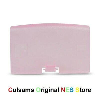Fuchsia (Clear Pink) Game Boy Gba Advance Battery Cover Door Replacement Part