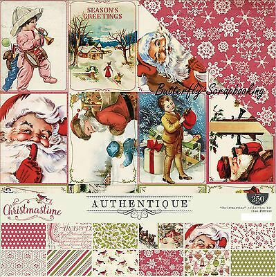 CHRISTMAS Collection Kit 12x12 Scrapbooking Crafting Kit Authentique CMT009 NEW