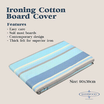 New Ironing Board Cover Easy Fit Non Slip Ultra Thick Felt Backed 90x39cm