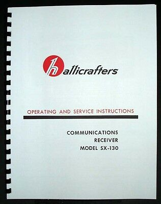 Hallicrafters SX-130 SX130 Communications Receiver Operating and Service Manual