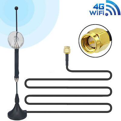 10dbi 4G SMA Antenna LTE Male Plug Router Modem Huawei Magnetic Cable RG174 3M