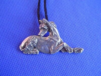 Chinese Crested RECLINING necklace Pewter #22K Toy Dog Jewelry b Cindy A. Conter