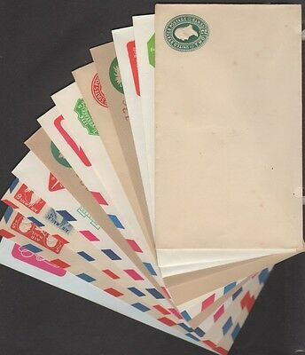 Stamped Envelope Collection   (25) Different    Mint