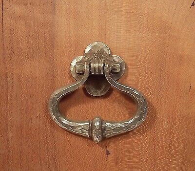 Antique hammered metal drawer ring pull