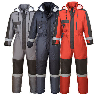Winter Waterproof Coverall Overall Boilersuit Pack Away Hood Work Outdoors S585