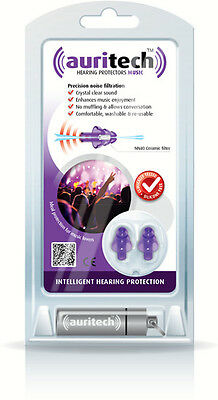 Auritech Hearing Protectors Earplugs Music Concerts Musician Noise Cancelling