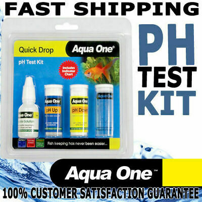 Aqua One Quick Drop Aquarium Fish Tank Water PH Test Kit 6 to 7.8